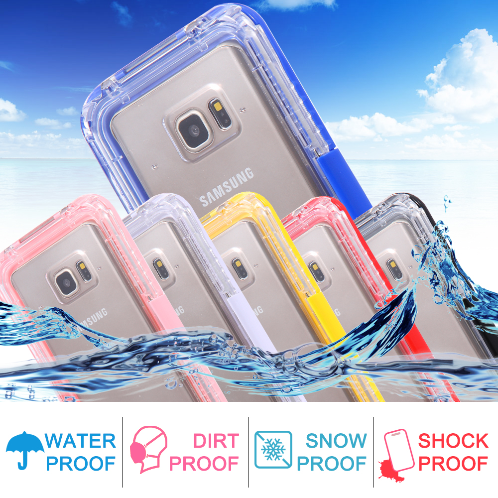 Note 5 Waterproof Case TPU+Plastic Hybrid Underwater Diving Swimming Case For Samsung Galaxy Note 5 N9200 Water/Dirt/Shock Proof(China (Mainland))