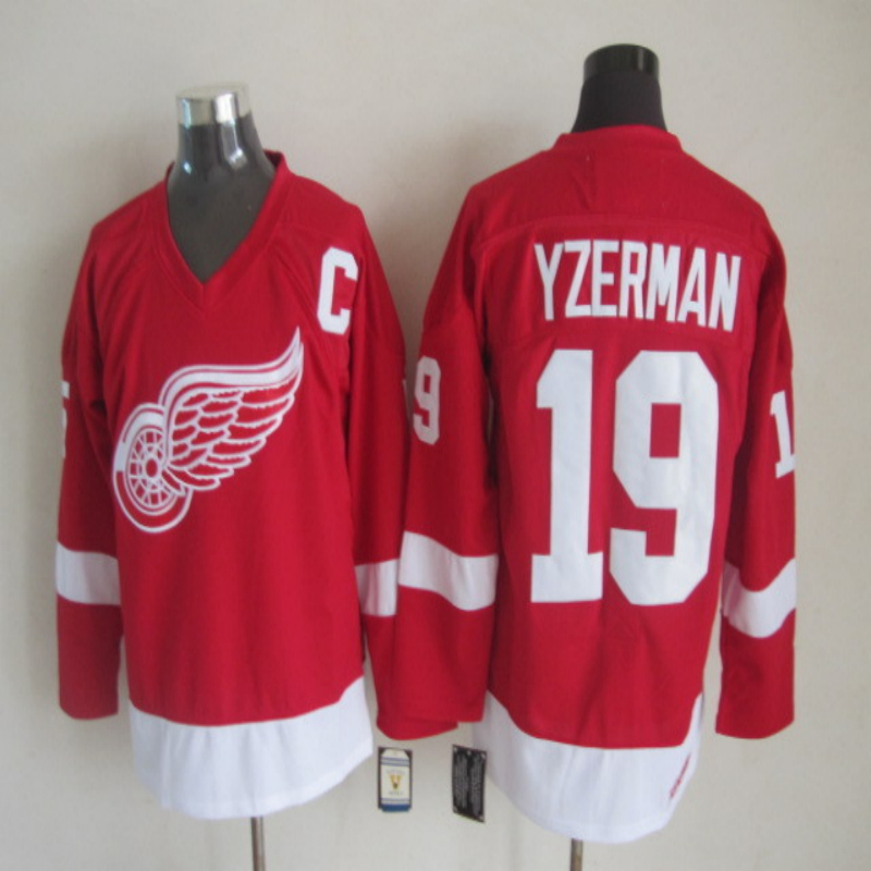 Steve Yzerman Jersey authentic Red Wings #19 Steve Yzerman Home Premier Stitched High quality Ice Hockey Jerseys Shirts(China (Mainland))