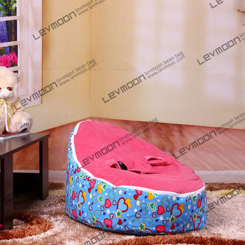 FREE SHIPPING baby bean bag chair with 2pcs dark red up cover baby bean bag seat kids bean bag baby bean bag bed kids seat(China (Mainland))