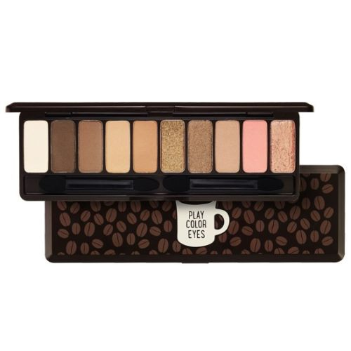 10 Colour Eyeshadow Pallet Play Colour in the Cafe Warm Winter Eye Shadow Box Perfect Makeup Shine Colour Eyes(China (Mainland))