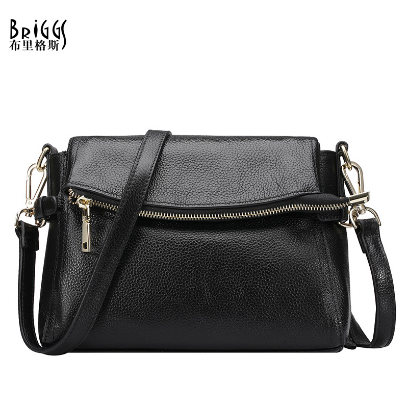 BRIGGS Real 100% Genuine Leather Bags Classic Women Designer Brand Handbags High Quality Shoulder Messenger Bags 4Colors(China (Mainland))