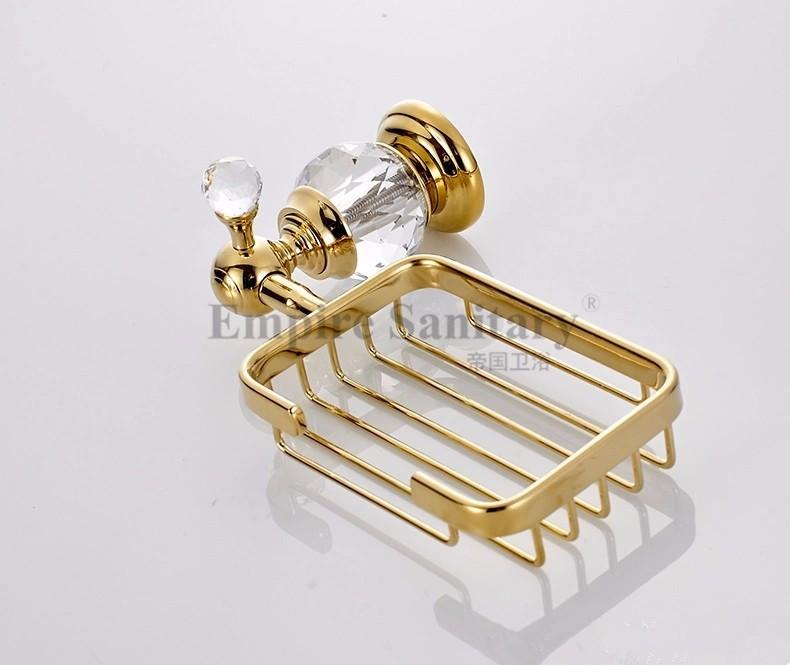 Купить Кристалл & Латунь Золото Мыльница/Мыльница/Мыльница Аксессуары Для Ванной Комнаты 4552