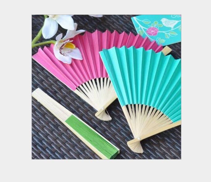 Free shipping wholesale personalized paper blank folding hand fans for wedding event party bridal shower favors dancing fan(China (Mainland))