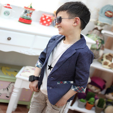 Hot Sale Kids Boys Plaids Check Dots Casual Suit Jacket Coat Costume 2 7 Years Rose