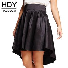 Buy HDY Haoduoyi Fashion High Waist Mini Skirts Women High Waist Female A-line Skirts Preppy Style Solid Black Ladies Skirts for $11.49 in AliExpress store