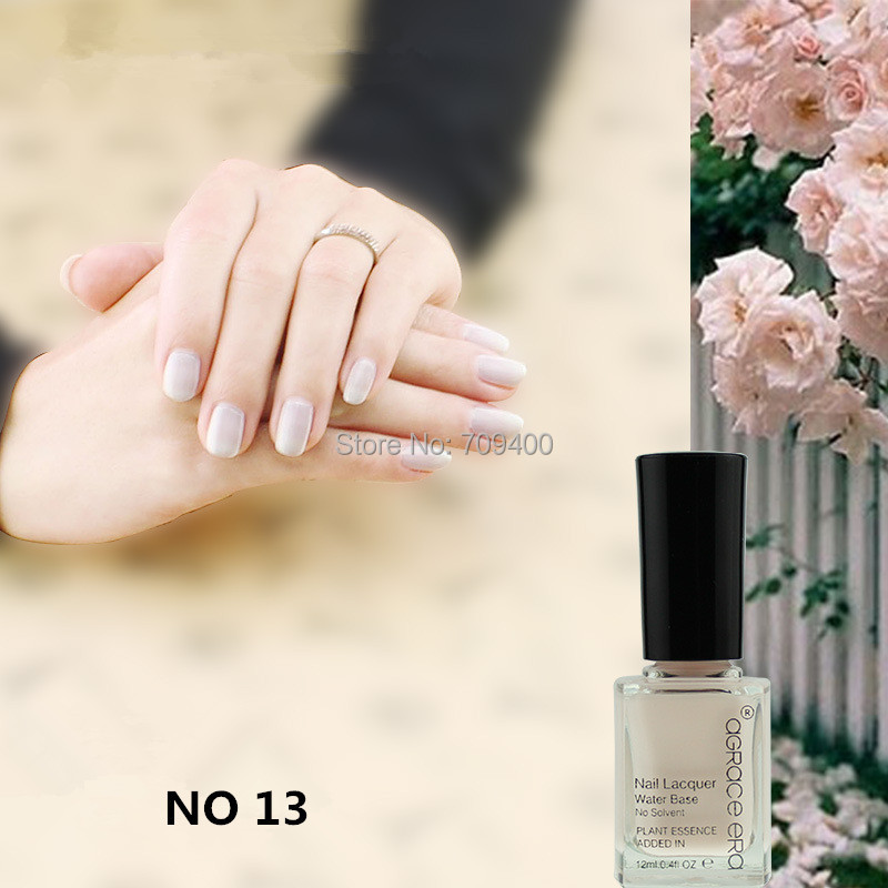 Free shipping snowy lavender color healthy water base plant essence ingredients peel off nail polish 10 pcs each lot no 13(China (Mainland))