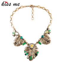 Classic Statement Jewelry New Arrival Alloy Leaves Necklaces & Pendants  Factory Wholesale