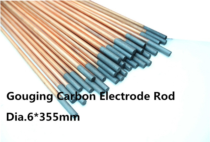 dia.6*355mm DC Copper Coated Pointed Gouging Rods 100pcs /copper coated carbon rod/china graphite rods<br><br>Aliexpress