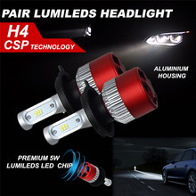 Buy High car-detector h4 led 180W 18000LM LED Headlight KIT HIGH LOW Beam Replace Halogen Xenon led h4 replacement for $18.02 in AliExpress store