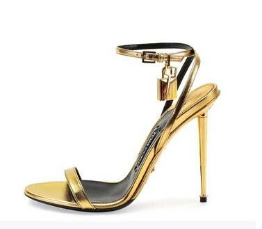 Gold Designer Heels   Tsaa Heel