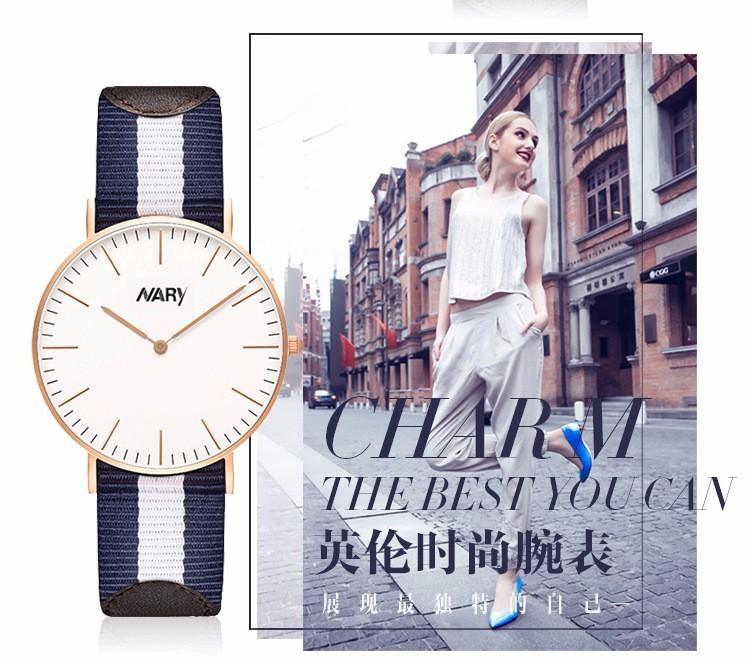 Лучшее Качество Нары ЧАСОВОЙ Бренд 41 мм Мужчины Женщины Ультратонкий Серебряный Набор Нейлон Кожа Reloj Mujer Montre Femme Horloge Orologi