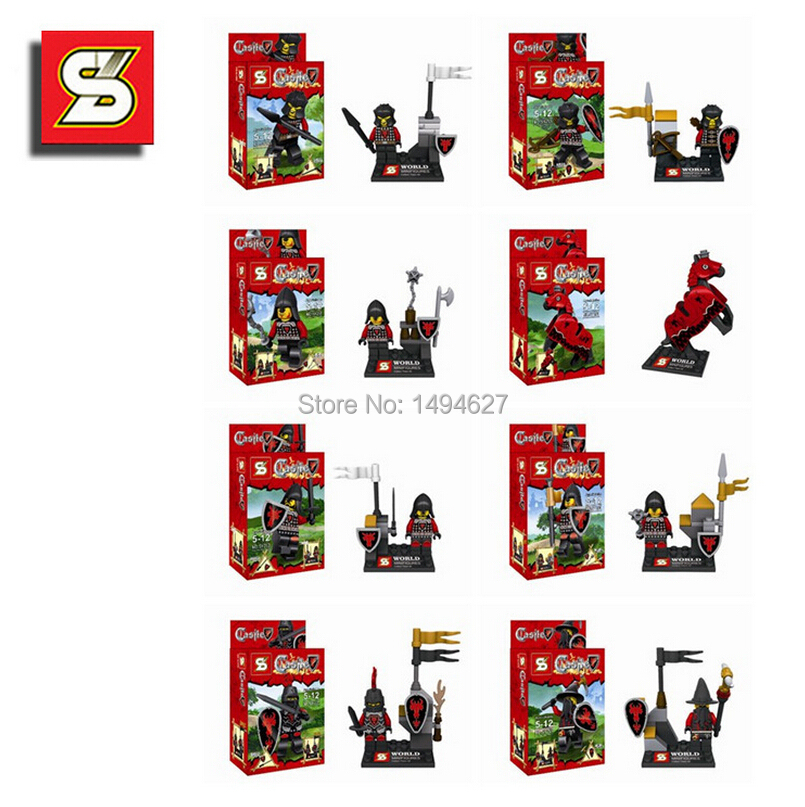 Wholesale 40pcs=5lot blocks wholesale to hold insted The black dragon knights sy253 building blocks for children freeshipping(China (Mainland))