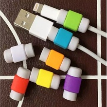 Cute Silicone cable protector plastic Cord protection Wire Cover Wrap Protective sleeves winder for iphone USB data cable