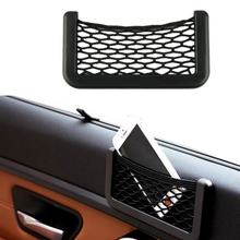 Delicate Automotive Bag With Adhesive Visor Car Net Organizer Pockets Net Hot Selling