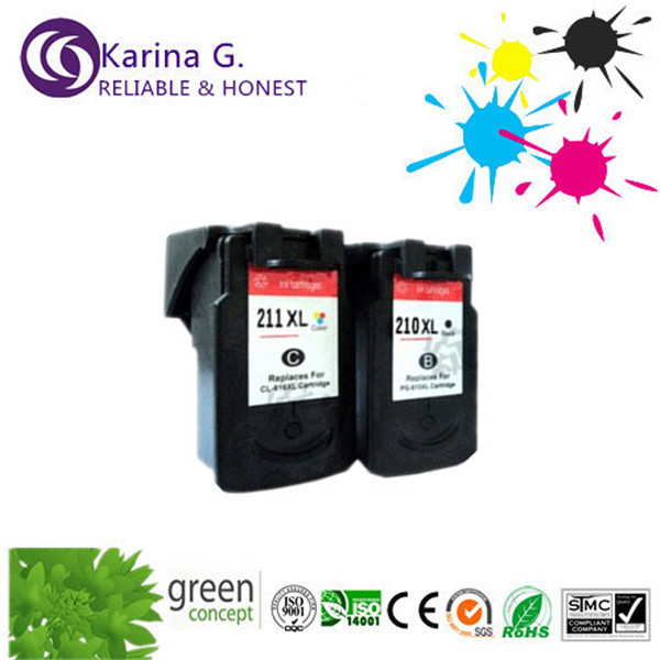 Wholeset ink cartridges for canon PG 210XL CL 211XL for Canon MP240 MP250 MP280 MP480 MP490 MP495 Printer Ink(China (Mainland))