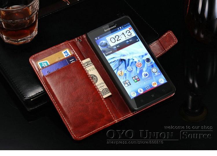 Стильный чехол бумажник Lenovo P780 фото