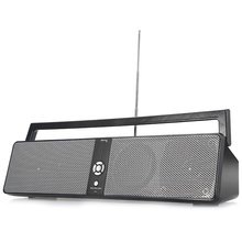 Portable HiFi Boombox Wireless Bluetooth Speaker with USB Input AUX Input TF Card Playing FM Function(China (Mainland))
