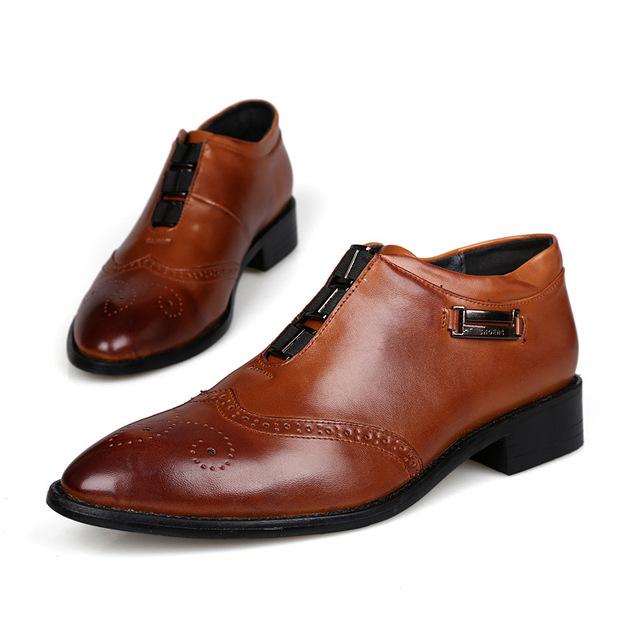 Мода Мужчины Платье Обувь Повседневная Бизнес Мужчины Обувь Квартиры Британский Стиль ...