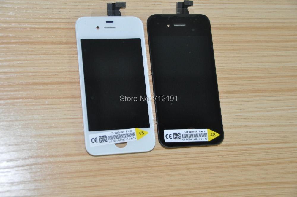 LCD touch screen Digitizer Glass Assembly for iphne 4S 4G Free Shipping via DHL(China (Mainland))