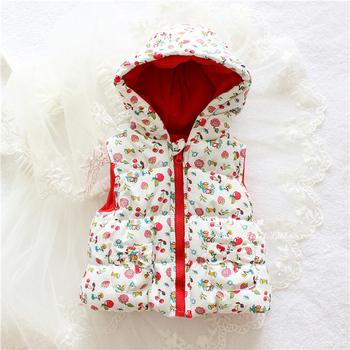 Hot Sale Girls' flowers Cotton Cute Waistcoat Kids Vest Children Free Shipping autumn lace