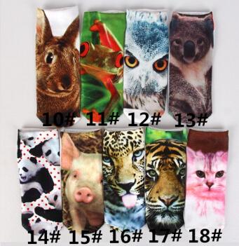 2015 животных кошка из свинины печать 3D мультфильм носки для мужчин и женщин
