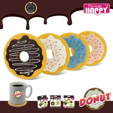 Original 4 Pieces/set Colorful Donut Mat Coasters,Creative Round Cookies Coffee & Donut Drink Cup Biscuits Mat 4 drinks coasters(China (Mainland))