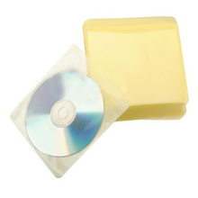 5x New Hot 100x CD DVD DISC Color Cover Storage Case Plastic Sleeve Wallet Packs 100 Micron(China (Mainland))