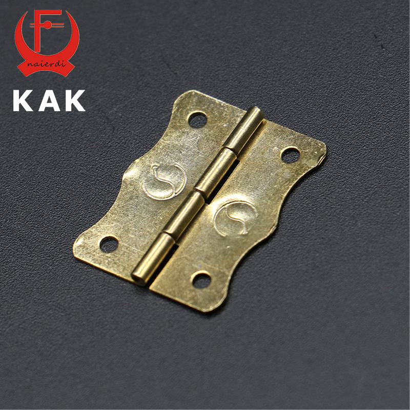50pc KAK 24mm x18mm Color Gold Mini Butterfly Door Bearing Hinges Cabinet Drawer Jewellery Box Iron Hinge For Furniture Hardware(China (Mainland))