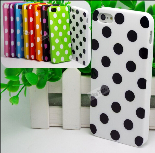 5/5S SE 4'' Creative Design Polka Dot Silicon Soft TPU Cover Cases Apple iPhone5/5S Case iPhone 5 5S Shell - Mobile Phone Accessories/Case And Mp3 Store store