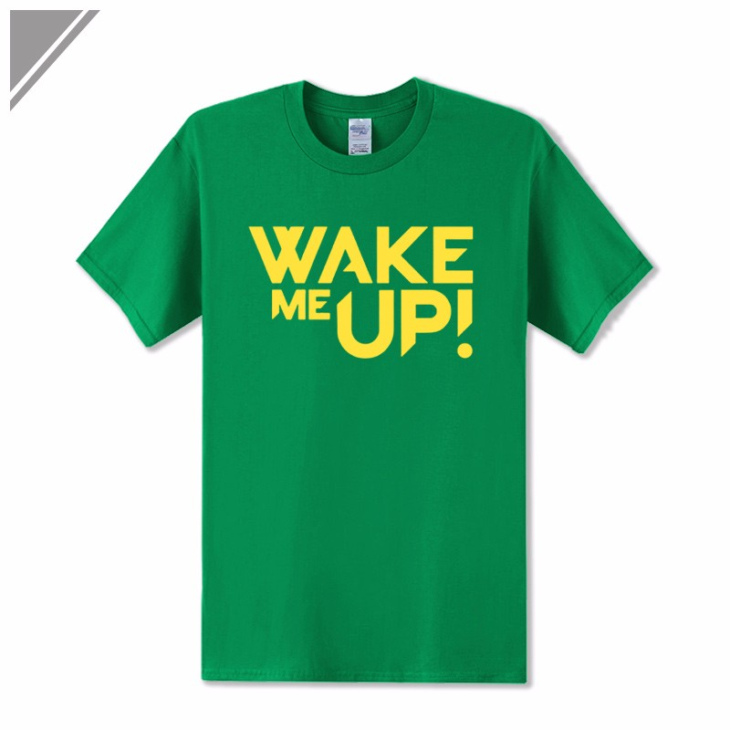 2017 Spring&Summer Dress Rock Band Avicii DJ Wake Me Up Mens Printed T Shirt Tshirts Short Sleeve Hip Hop T-Shirt crop Top Tees
