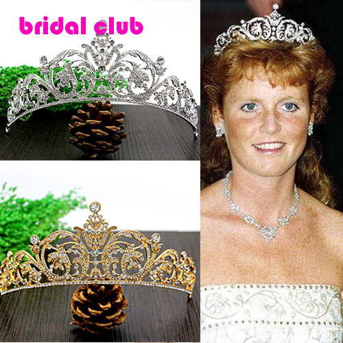 18K Gold /Silver Plated White Austria Crystal Rhinestone Bridal Hair Jewelry Wedding Hair Accessories Pageant Tiaras and Crowns(China (Mainland))