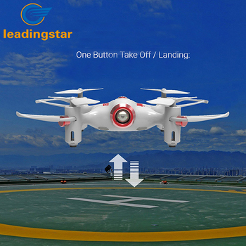LeadingStar RC Quacopter Syma X20 2.4G 4CH 6-aixs Gyro Pocket Drone RTF with Headless one Key Return Mode 3D-flip Function zk35