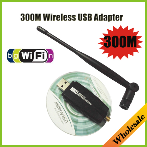 New 2014 Mini Wireless Wi-fi Adapter & adaptador 300Mbps wifi usb Lan Network Card with external antenna,Wholesale Free Shipping(China (Mainland))