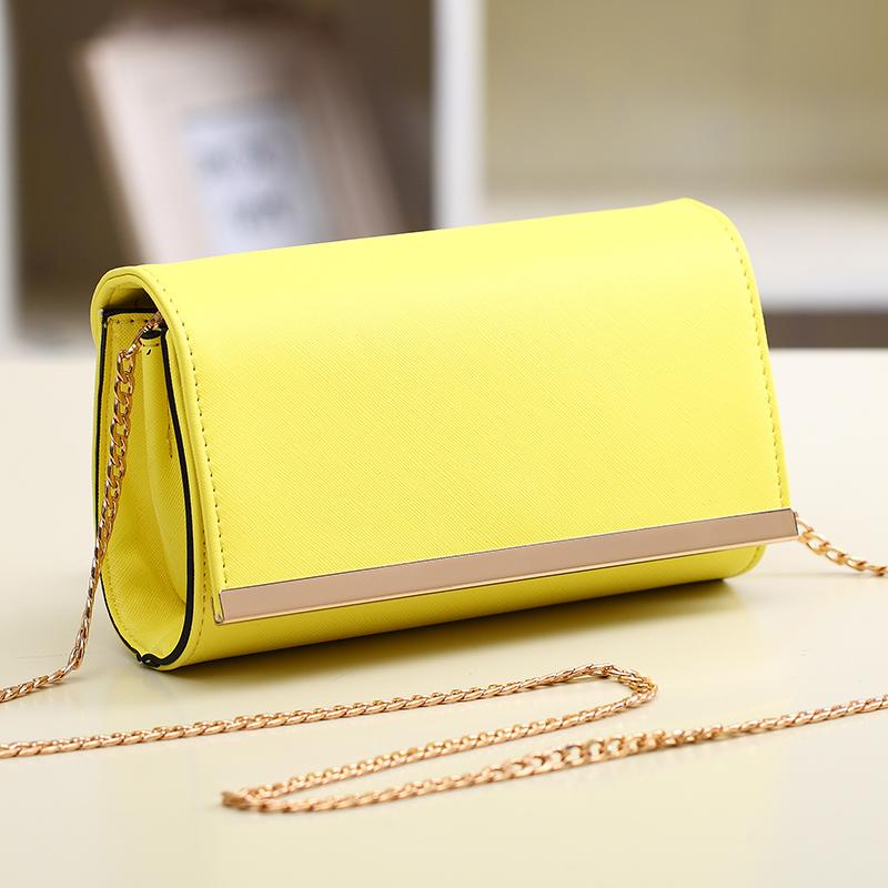 2014 Japan And South Korea Winter Women's PU Mini Clutch Handbag Shoulder Diagonal Packet Purse Promotion(China (Mainland))