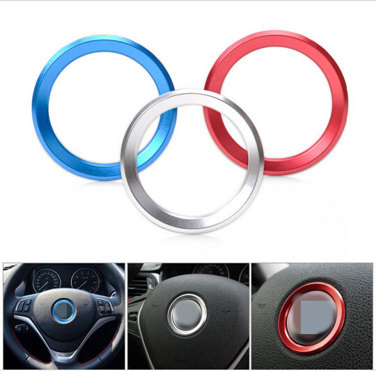 For BMW new 3 / 5 series X1 X3 X4 X5 X6 GT 320i aluminum alloy steering wheel Logo protective decorative circle metal stickers(China (Mainland))