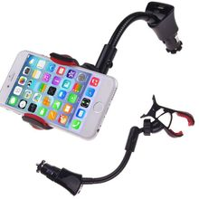 2015 Universal Car Cigarette Lighter USB Charger Clip Mount Holder For Cell Phone GPS Holder 3-east(China (Mainland))