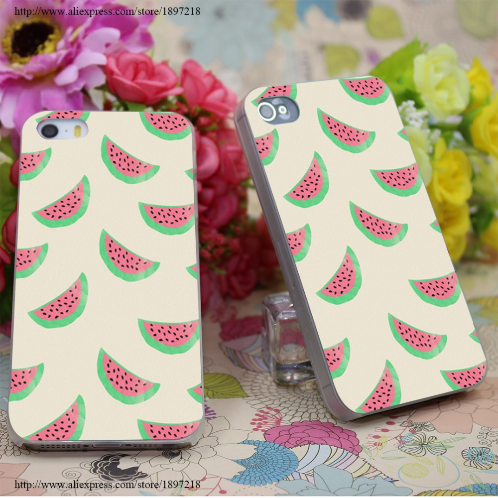2979W Sweet Watermelons Transparent Hard Case Cover for iphone 7 7 Plus 6 6s plus 4 4s 5 5s SE 5c