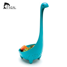 2016 Nessie   Long Handle Dinosaur Colander Monster Nonstick Nylon Strainer Spoon Large Scoop Kitchen Cooking Tools(China (Mainland))