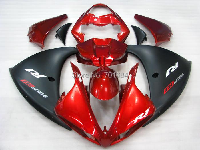 Мода горячий новый черный + красный abs кузов зализа литья