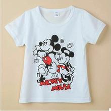 100% Cotton Short Sleeve Kids Girls T-shirts 2016 Fashion Children 3-6 Years Girls Tshirts Baby boys Girl Clothes clothing