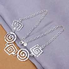 Wholesale Sterling 925 Silver Necklace,925 Silver Fashion Jewelry,Fashion Whorl Necklace SMTN350