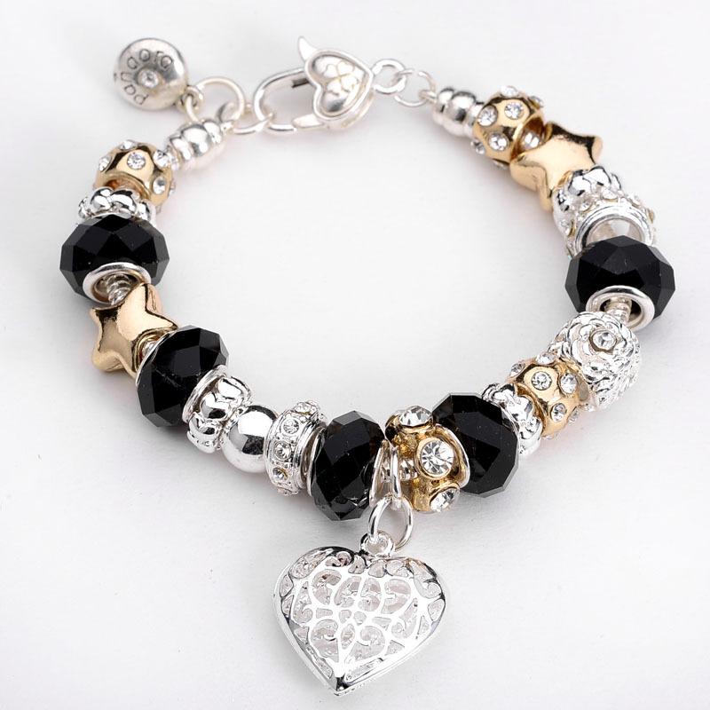 Fashion Jewelry 11 Style Crown charm Bracelets & Bangles ...