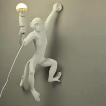 Nhựa Đen Trắng Khỉ Vàng Đèn Mặt Dây Chuyền Ánh Sáng Cho Phòng Khách Đèn Nghệ Thuật Đất Nặn Phòng Nghiên Cứu Học Tập Đèn LED Lustre Với e27 Bóng Đèn LED(China)