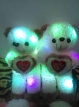 Haute qualité 35 cm hauteur nouveau ans childern cadeau amour clignotant ours led oreiller lumière coussin pour cadeau livraison gratuite(China (Mainland))