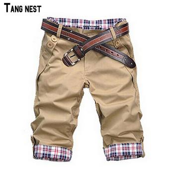 TANGNEST Men Shorts 2017 Hot Sale Men's Fashion Summer Wear Shorts Male Casual Solid Comfortable Shorts 10 Colors No Belt MKX079