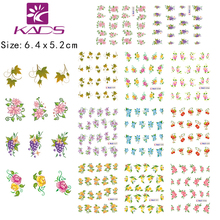 2014 NEW LARGE SHEETS/LOT (11 DESIGNS IN 1) Beautiful Flower Water decal Nail Stickers nail design for nail accessories