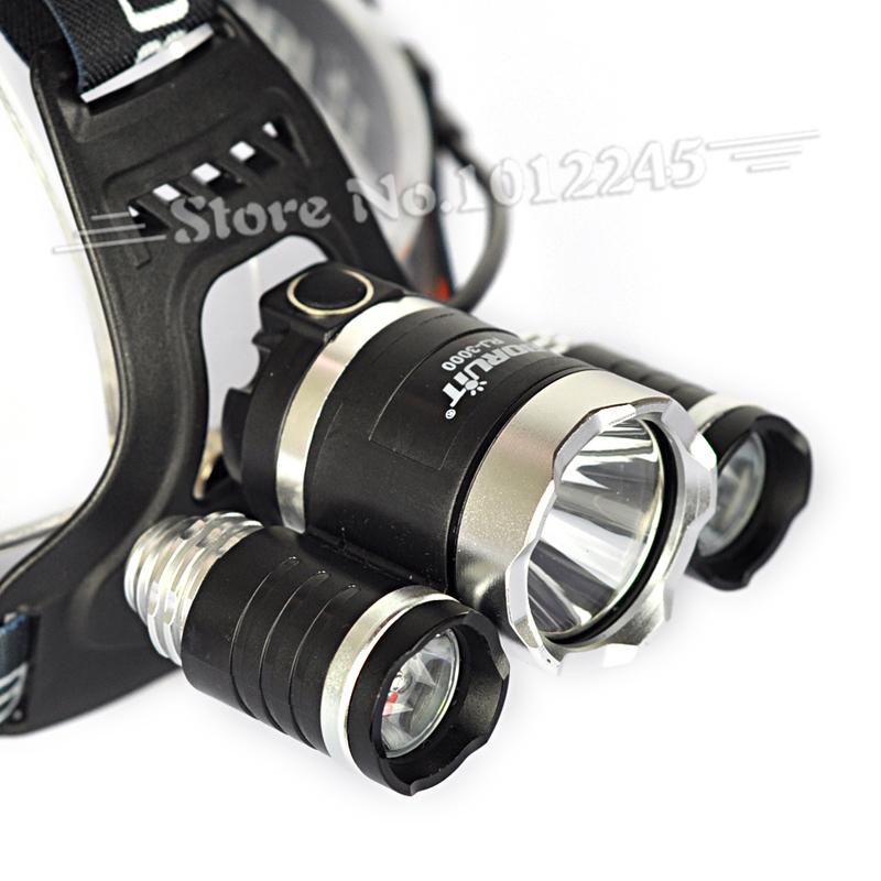 boruit rj 3000 5000lm 3t6 headlamp 3x xm l t6 led light. Black Bedroom Furniture Sets. Home Design Ideas