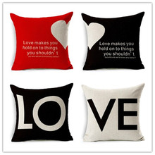Valentine Day Style Home Decor Cushion Pillows Sweet LOVE Printed Fundas Decorative Throw Pillows Fashion Almofadas Cojines(China (Mainland))