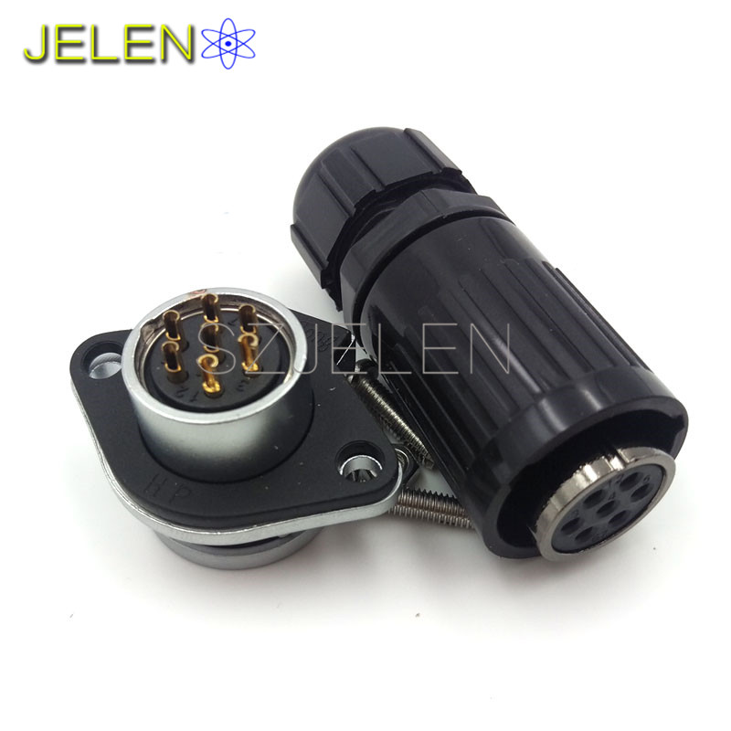 WEIPU WP20, Waterproof and dustproof 7 pin connectors, LED high power plug socket, connector cable, 7 pin plug connector(female)(China (Mainland))