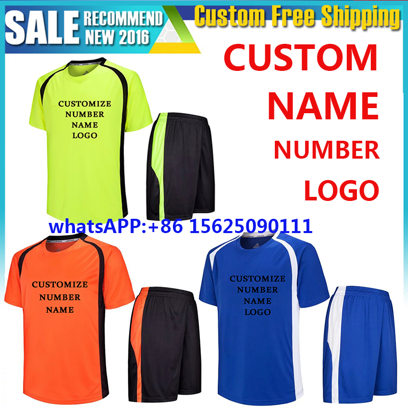 New 2016 2017 Thai Quality adult set Soccer Jerseys 16 17 Size S-XL Football shirt Men Maillot De Foot. Boxing free shipping(China (Mainland))